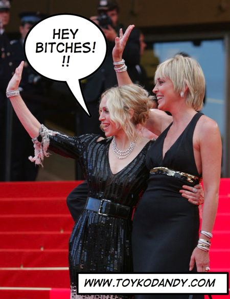 Madonna and Sharon Stone at Cannes