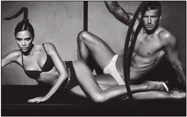 Beckhams for Armani Underwear Campaign