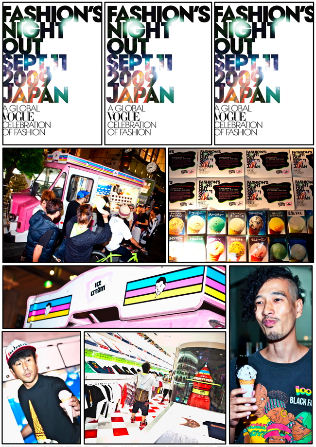 fashion's night out tokyo bilionaire's boyz club ice cream store harajuku