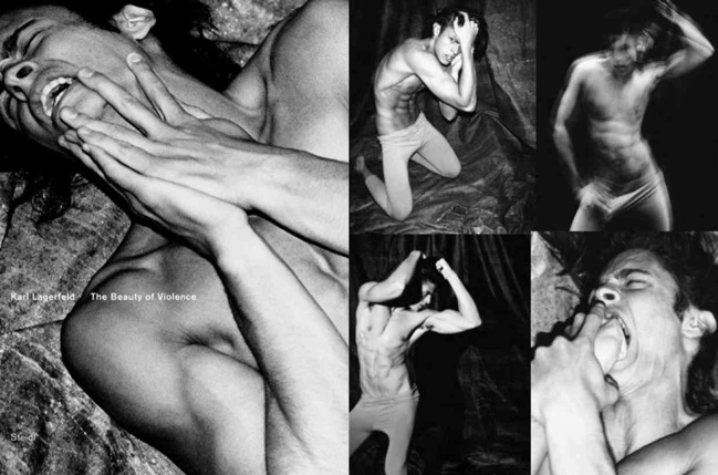 'The Beauty of Violence' by Karl Lagerfeld