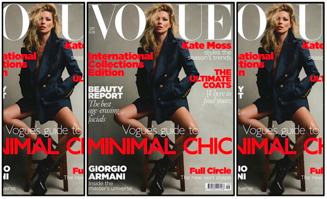 Kate Moss British Vogue September 2010