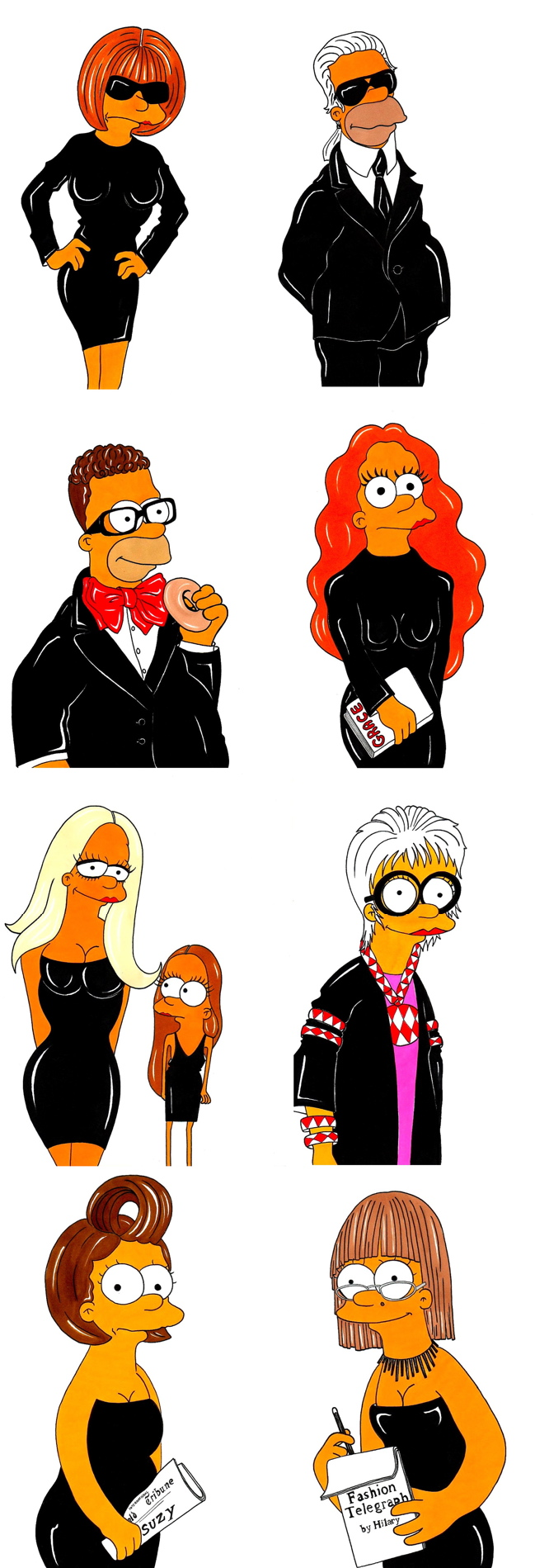 """FASHION SIMPSONS""  by Alexsandro Palombo"