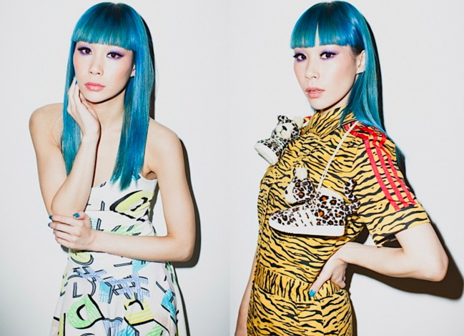 Mademoiselle Yulia for Jeremy Scott x Adidas Originals S/S 2012