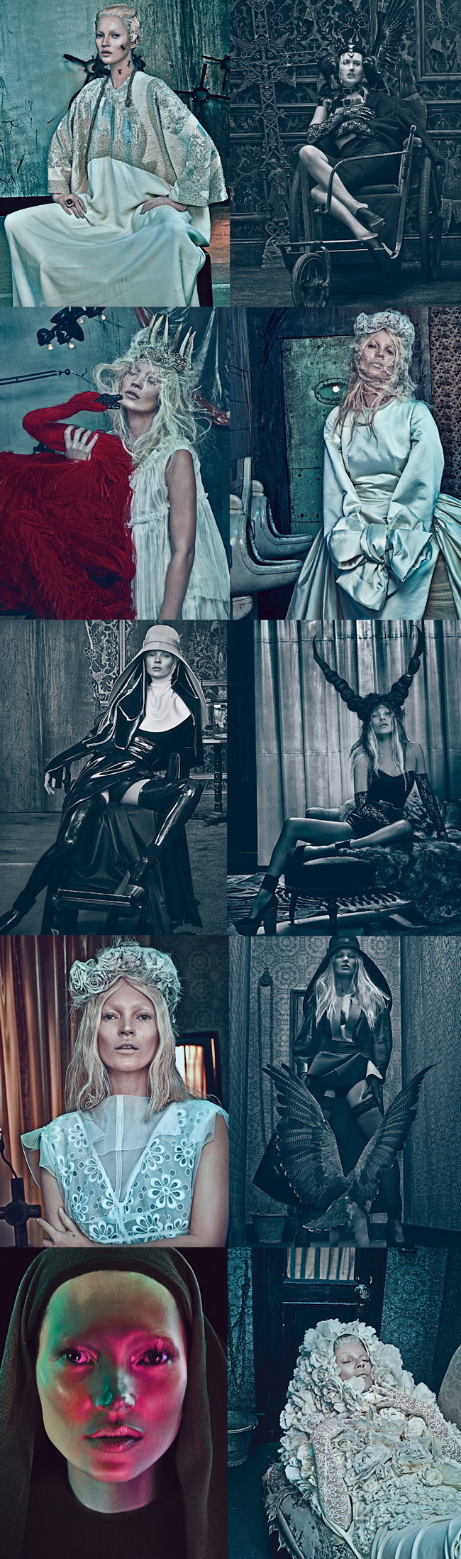 Kate Mos for W Magazine Photo by Steven Klein 1 Good Kate / Bad Kate by Steven Klein