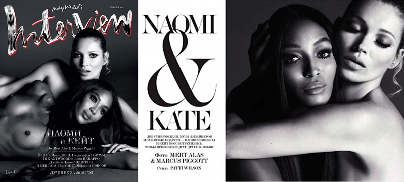 Naomi Campbell Kate Moss for Interview Russia December 2012 NAOMI & KATE FOR INTERVIEW RUSSIA