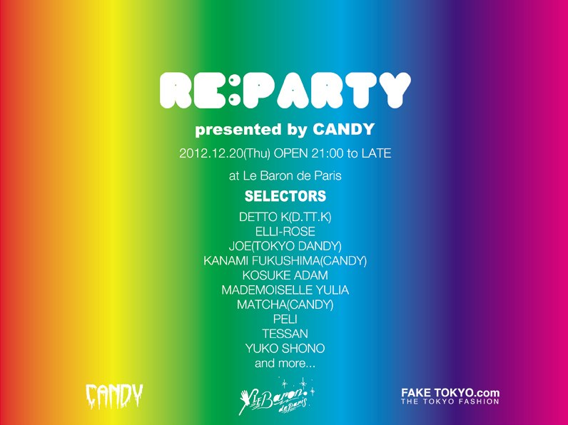 'RE:PARTY' Presented by CANDY