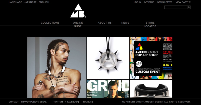 AMBUSH® DESIGN'S NEW WEBSITE