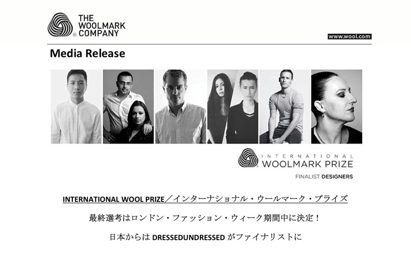 INTERNATIONAL WOOL PRIZE INTERNATIONAL WOOLMARK PRIZE FINALIST DESIGNERS
