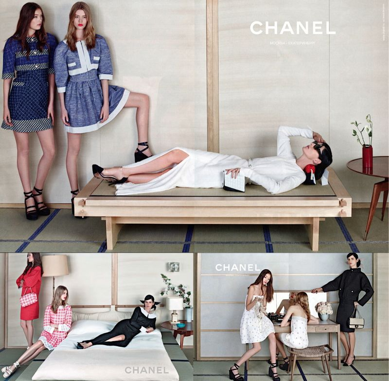 Japanese trend spring 2013 chanel campaign  THE JAPANESE INFLUENCE IN SPRING/SUMMER 2013 TRENDS