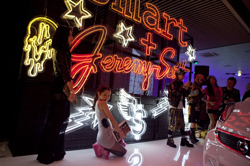 Jeremy Scott Tokyo Smart Car Japan Fashion Week 201 JEREMY SCOTT x SMART CAR TOKYO PARTY