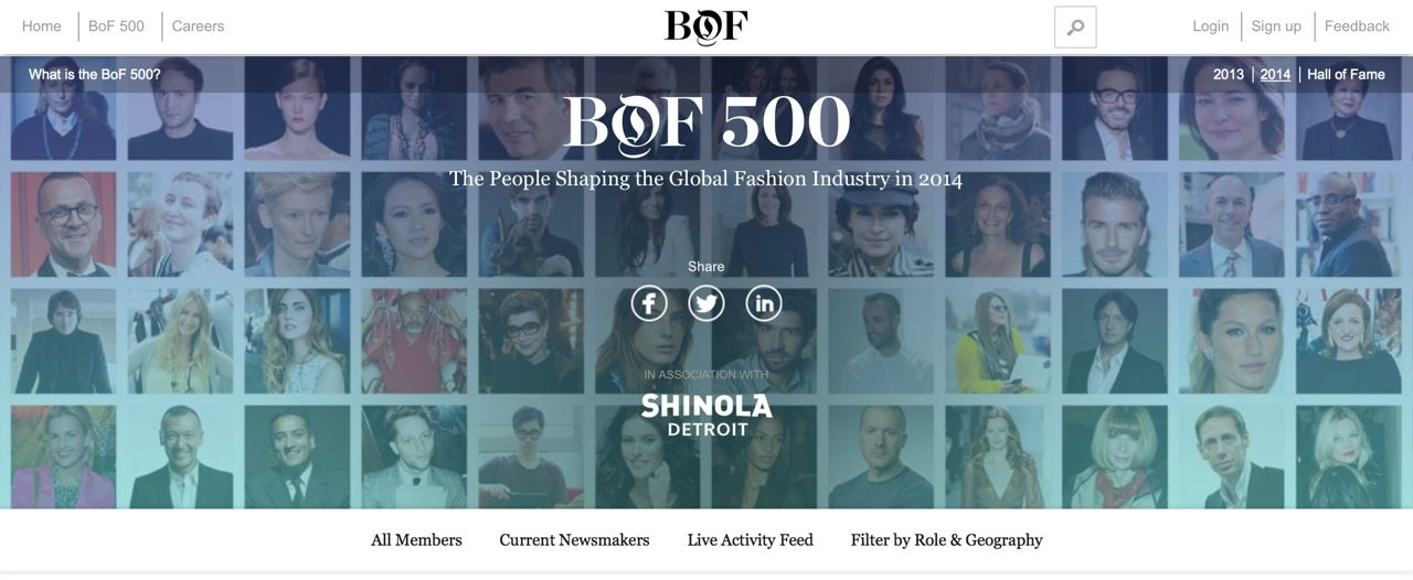 #BoF500 | The People Shaping the Global Fashion Industry in 2014 5
